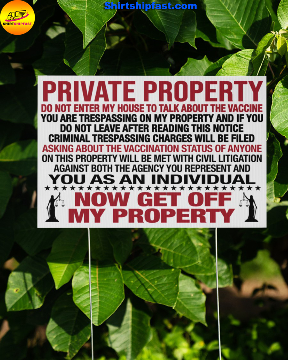 Private property do not enter my house to talk about the vaccine yard signs - Picture 3