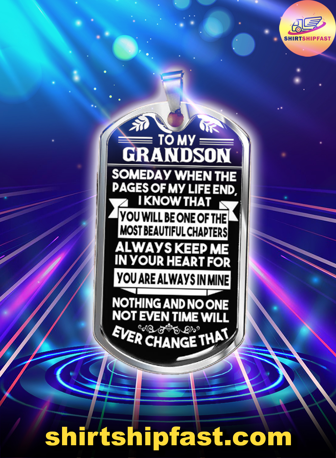 To my grandson someday when the pages of my life dog tag - Picture 1