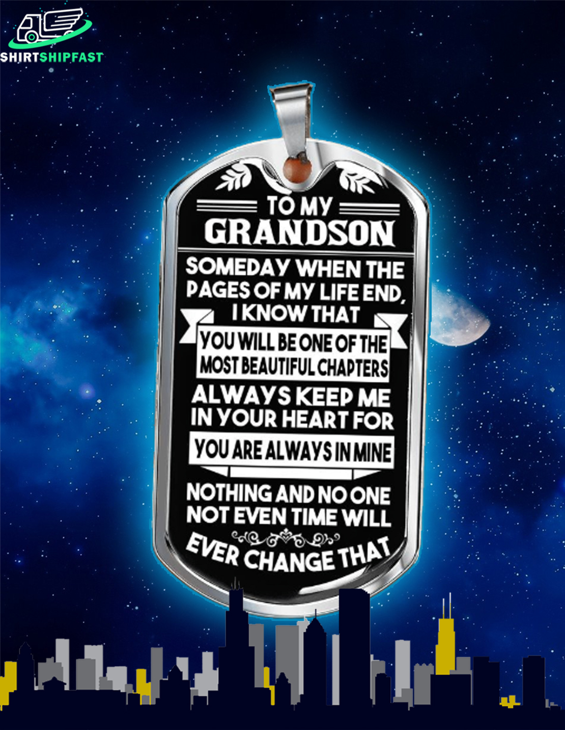 To my grandson someday when the pages of my life dog tag - Picture 2