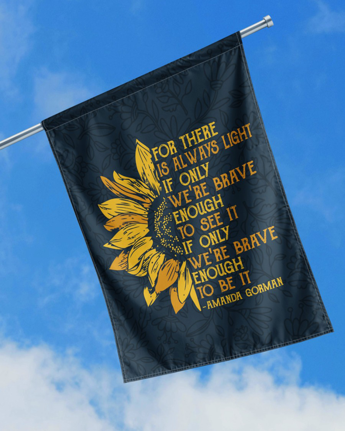 Amanda Gorman For there is always light sunflower flag - Picture 1