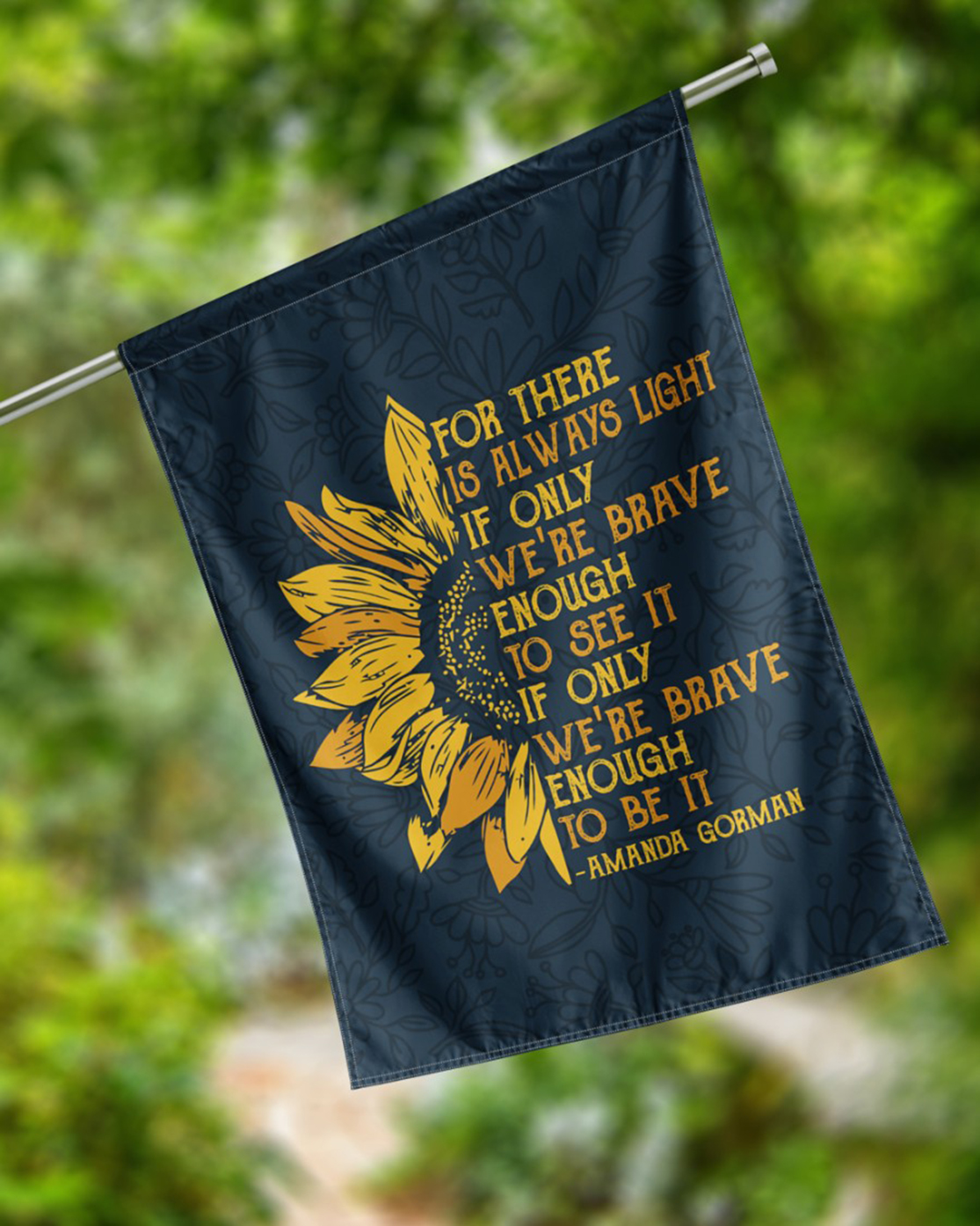Amanda Gorman For there is always light sunflower flag - Picture 2
