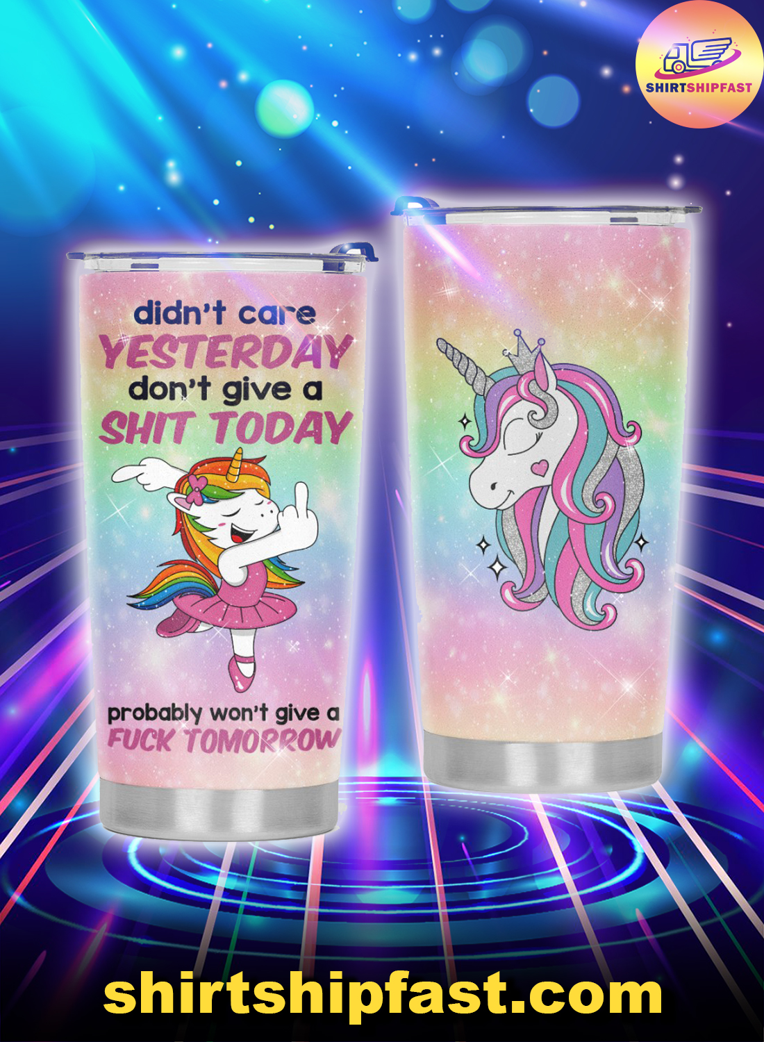 Ballet Unicorn didn't care yesterday don't give a shit today tumbler