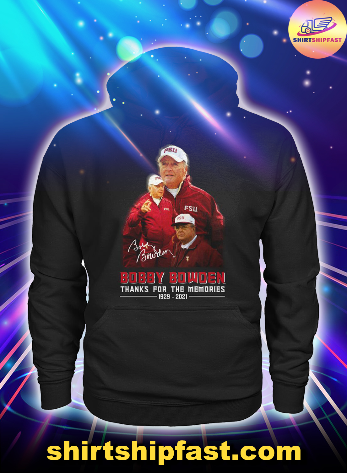 Bobby Bowden signature thanks for the memories 1929 2021 hoodie