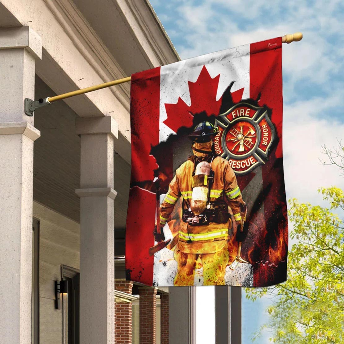 Canadian firefighter flag - Picture 2