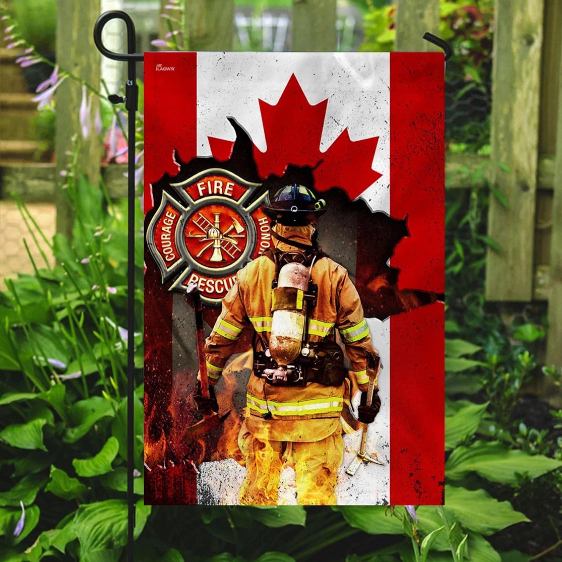 Canadian firefighter flag - Picture 3