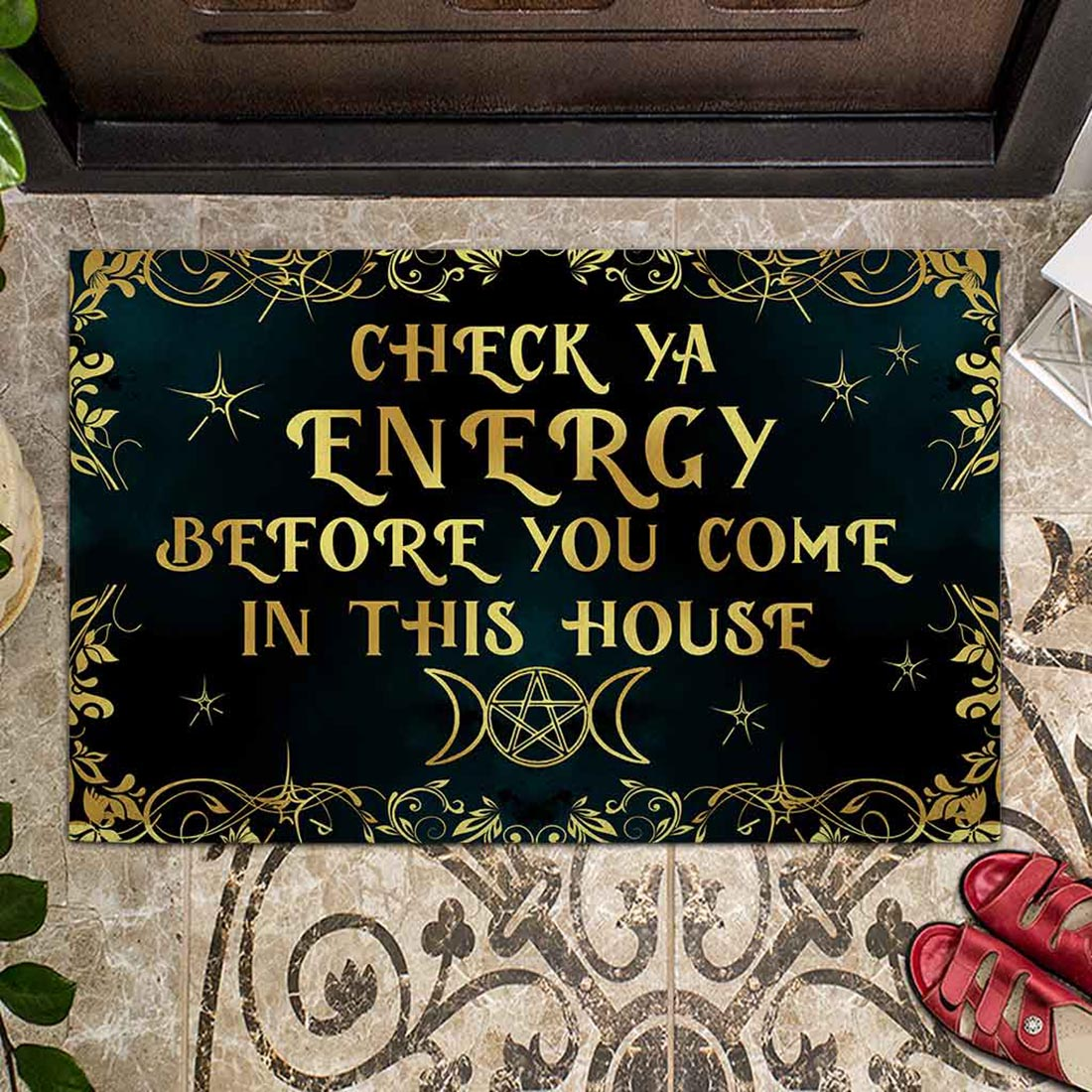 Check ya energy witch doormat