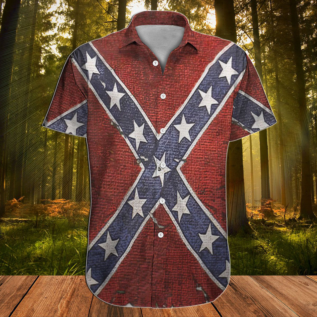 Confederate Flag South is a way of life hawaiian shirt - Picture 1
