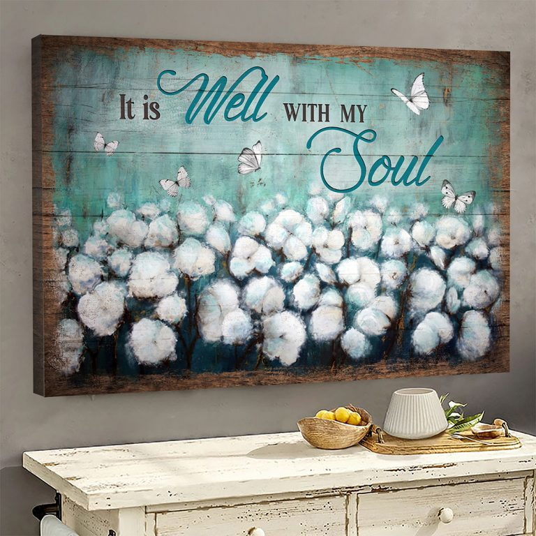 Dandelion butterfly It is well with my soul canvas prints
