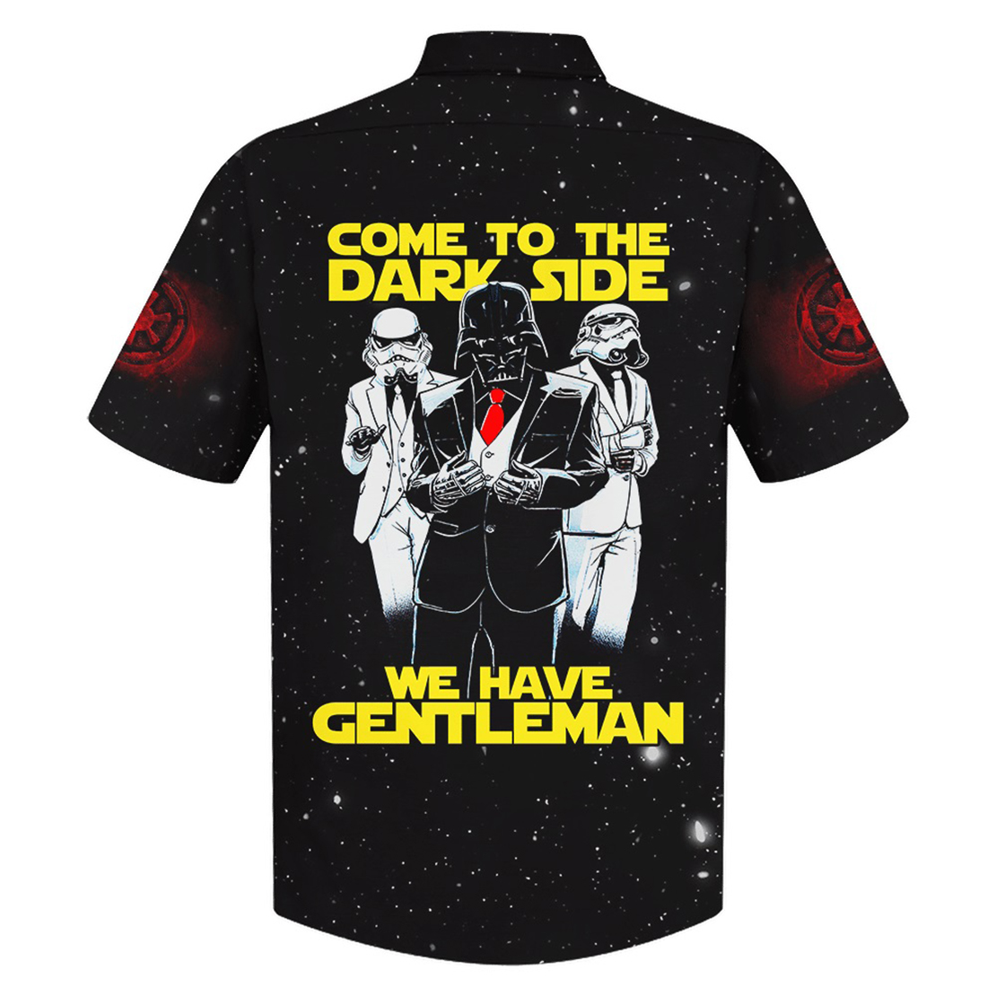 Darth Vader Come to the dark side we have gentleman hawaiian shirt - Picture 1