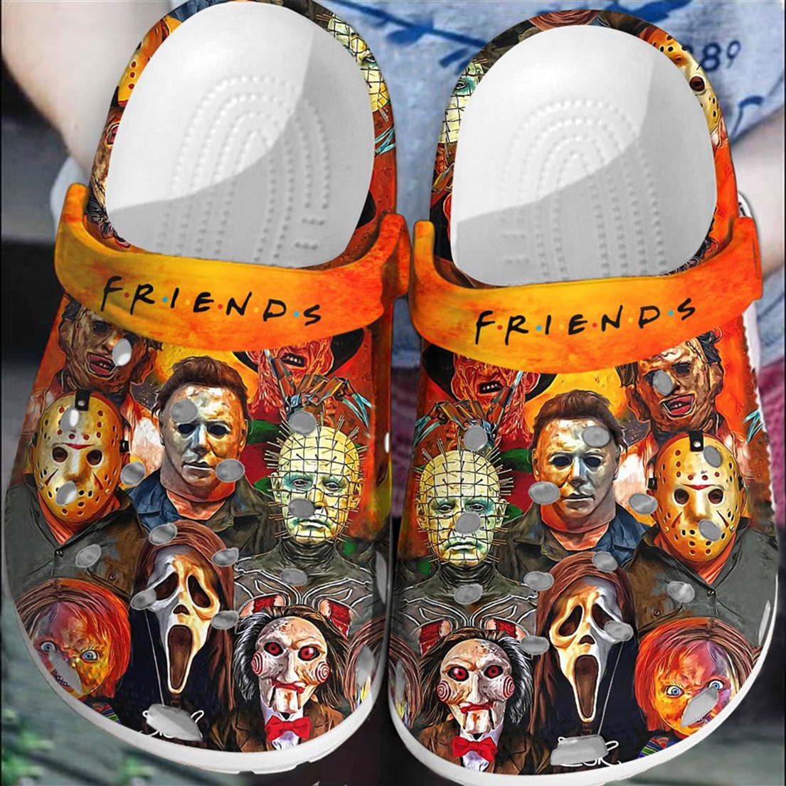Friends halloween horror characters crocband crocs shoes - Picture 1