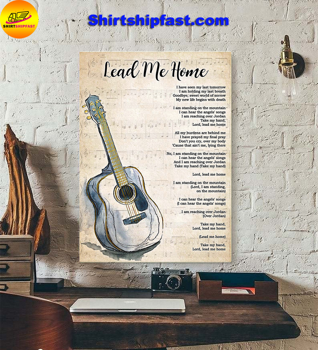 Guitar Lead me home lyrics poster - Picture 1