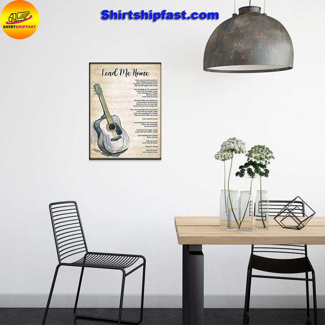 Guitar Lead me home lyrics poster - Picture 3