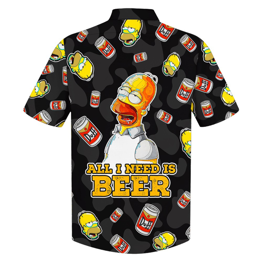 Homer Simpson with beer hawaiian shirt - Picture 1
