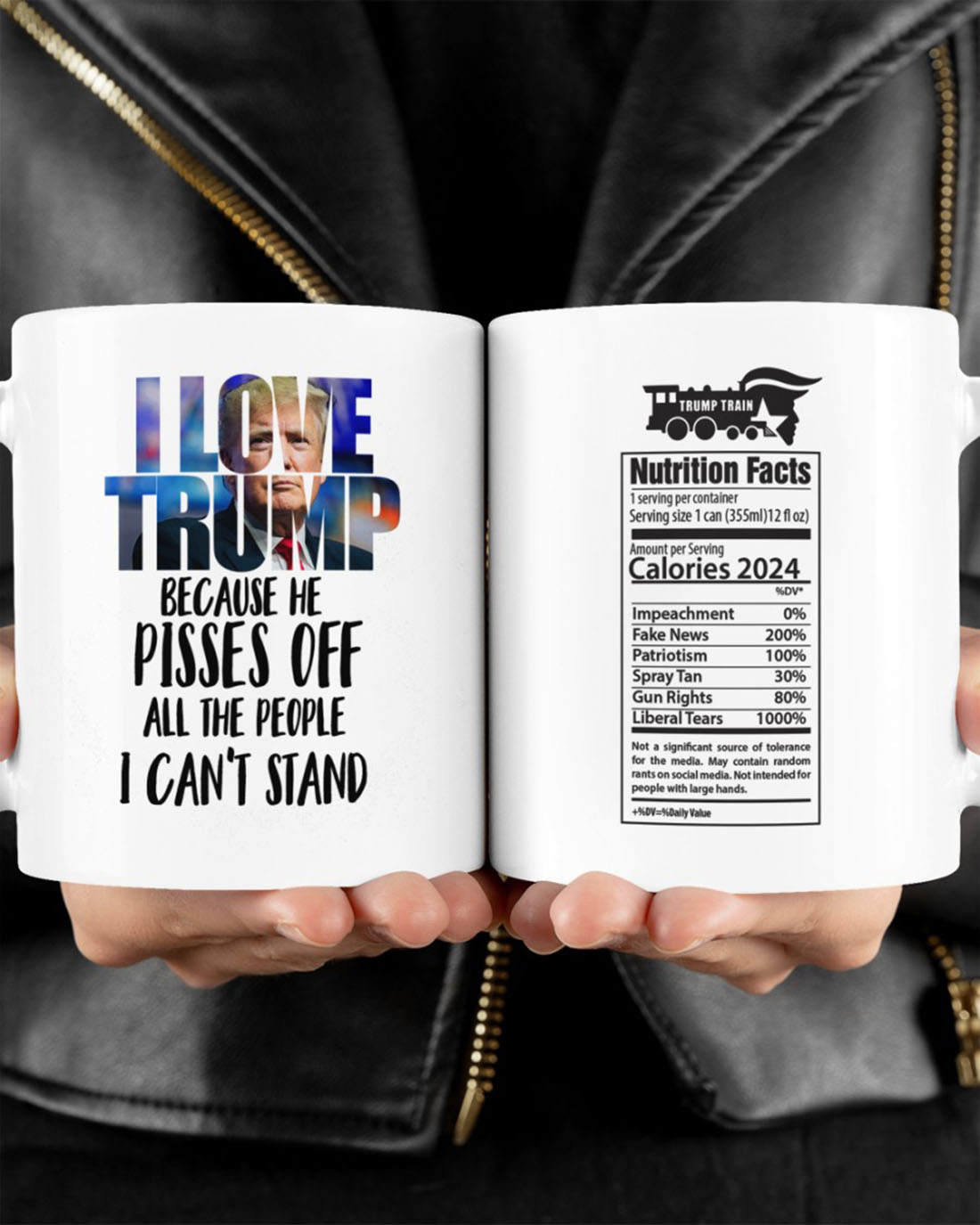 I love Trump because he pisses off all the people I can't stand mug