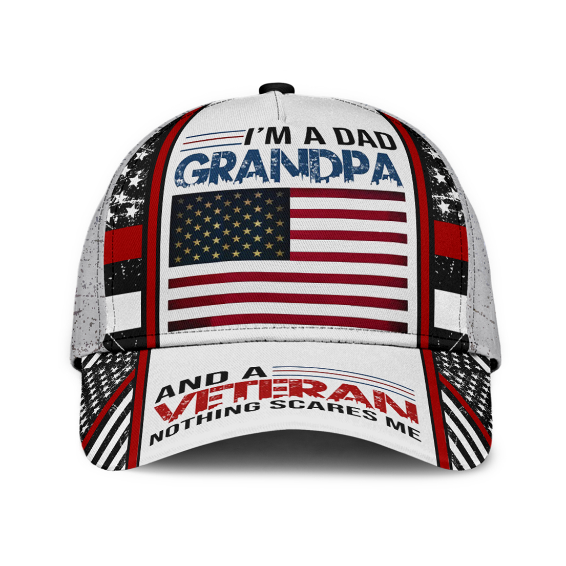 I'm a dad grandpa and a veteran nothing scares me hat cap - Picture 1