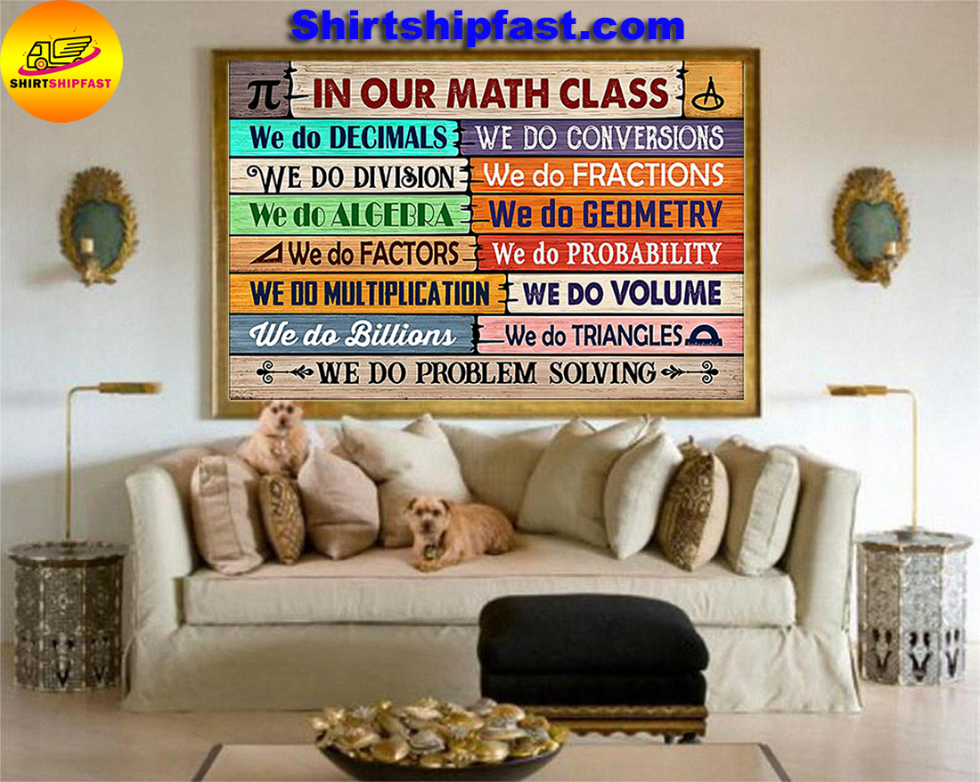 In our math class we do problem solving classroom poster