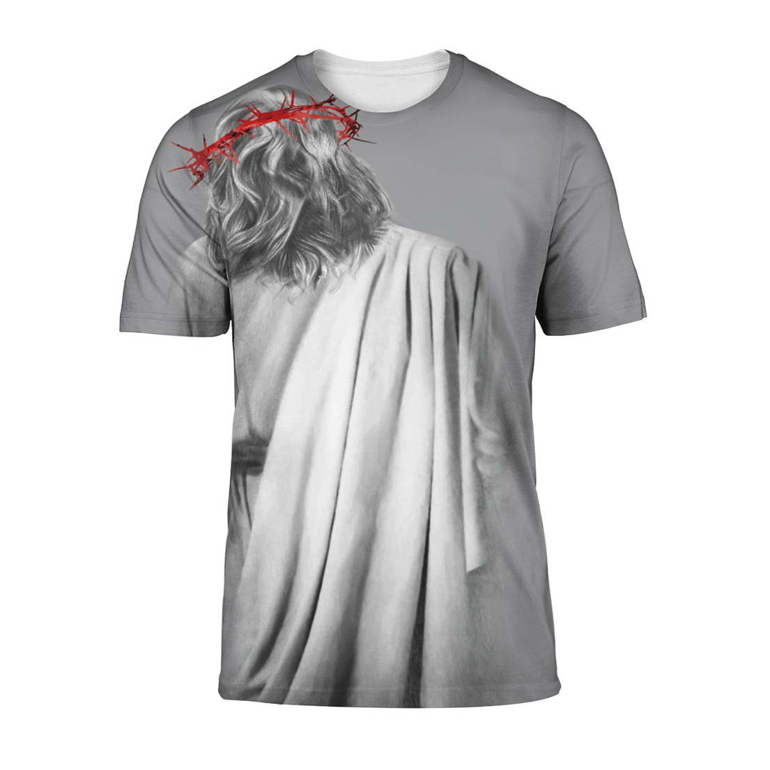 In the arms of lord all over print t-shirt - Picture 1