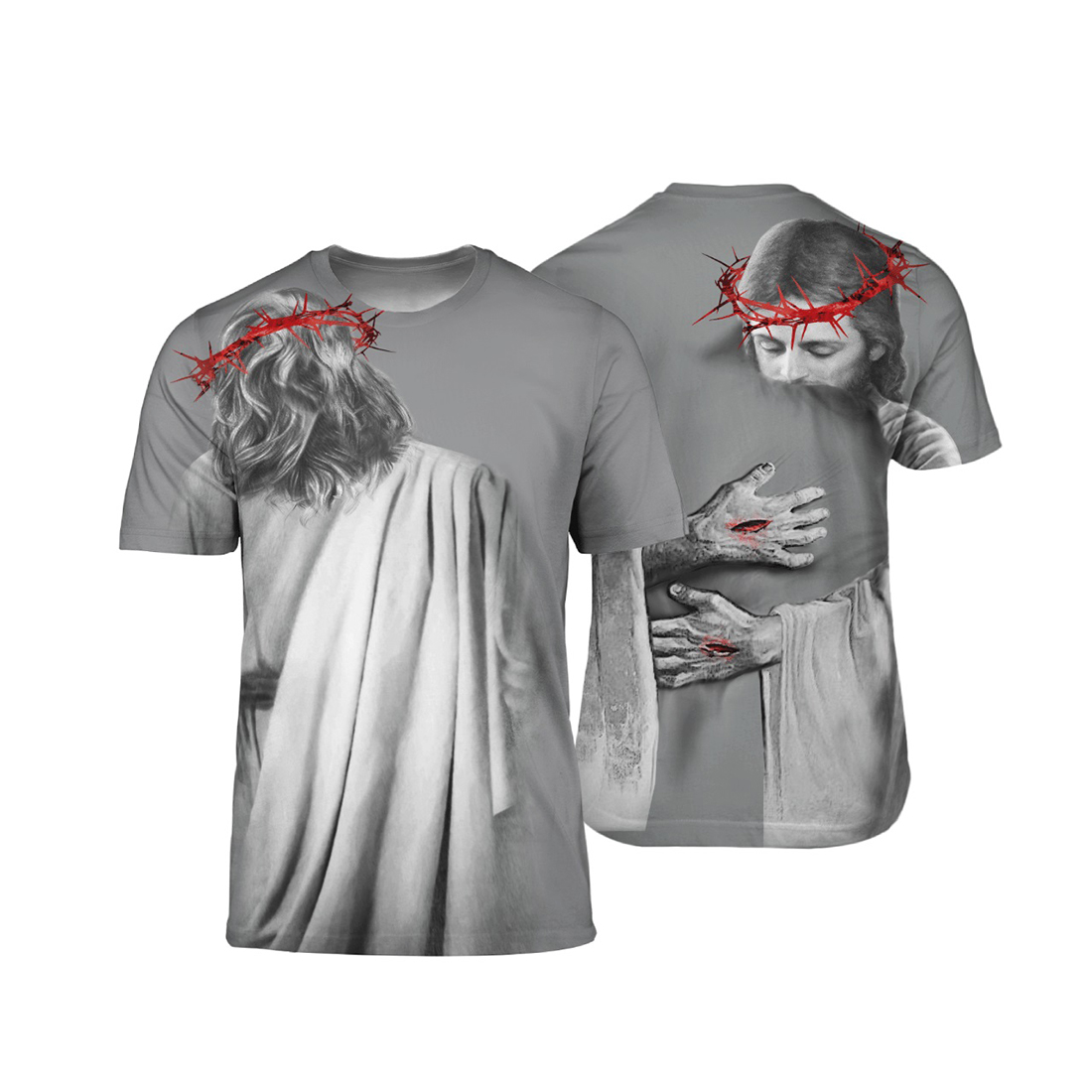 In the arms of lord all over print t-shirt