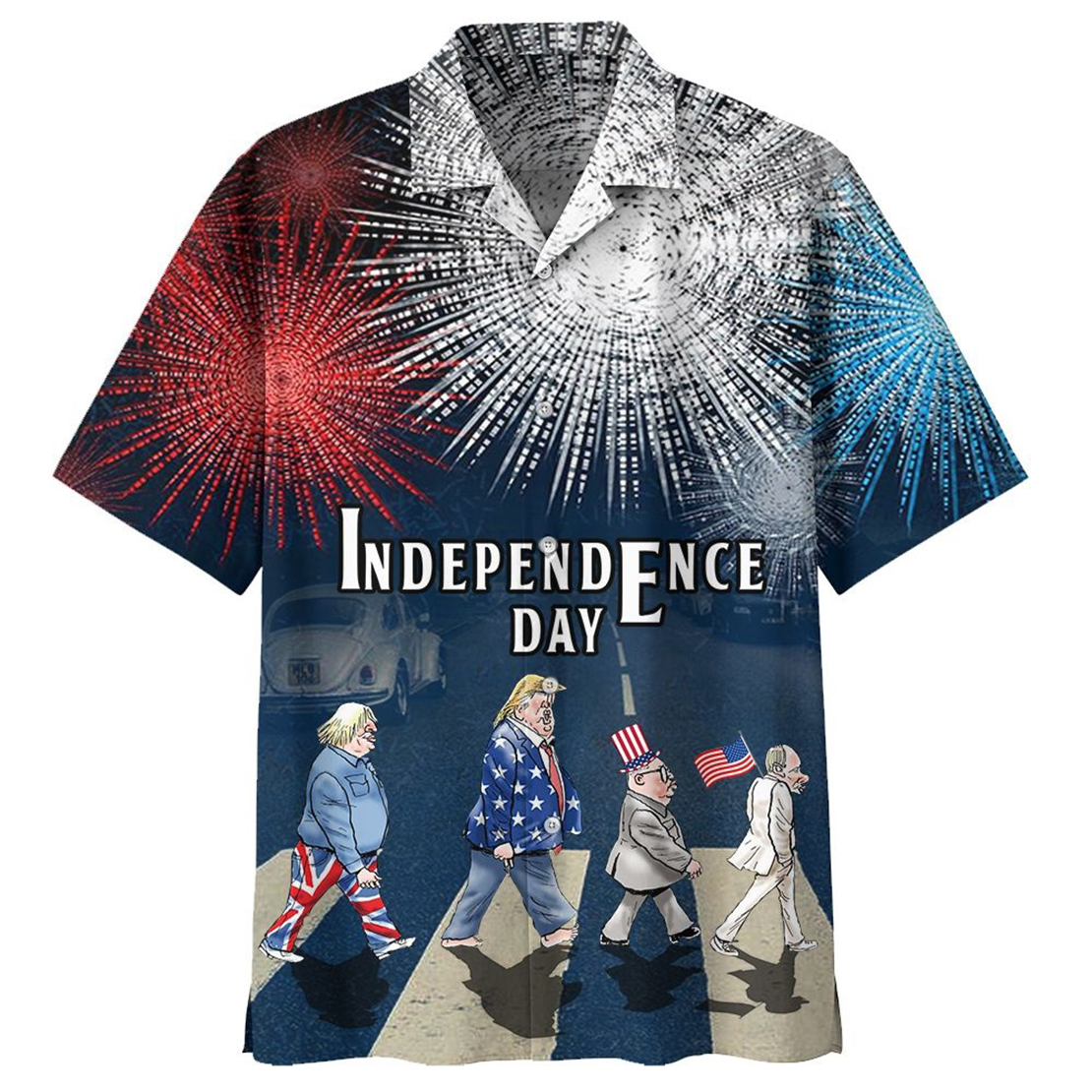 Independence day Abbey Road hawaiian shirt - Picture 1