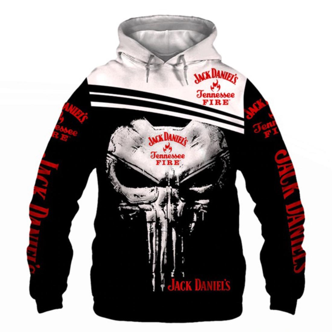 Jack's daniel punisher all over print hoodie
