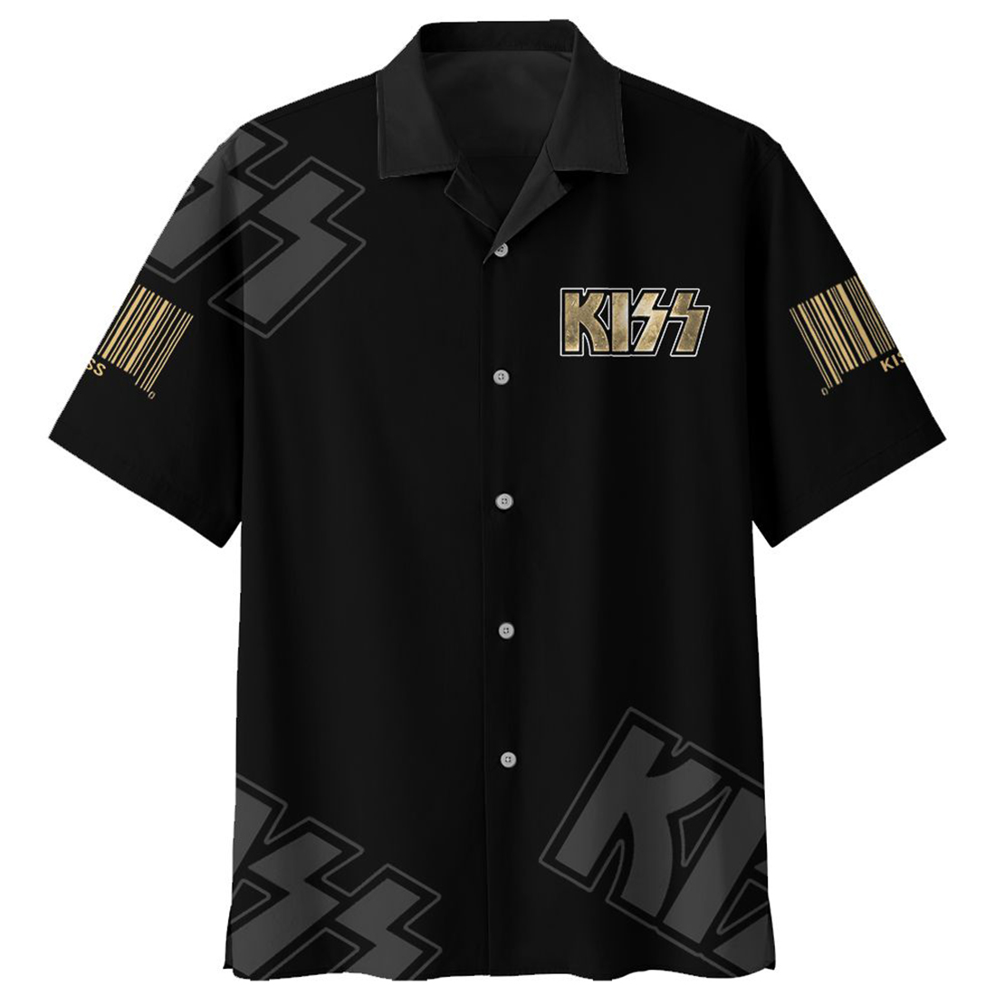 Kiss Comes on strong tells me what I got to do hawaiian shirt - Picture 1