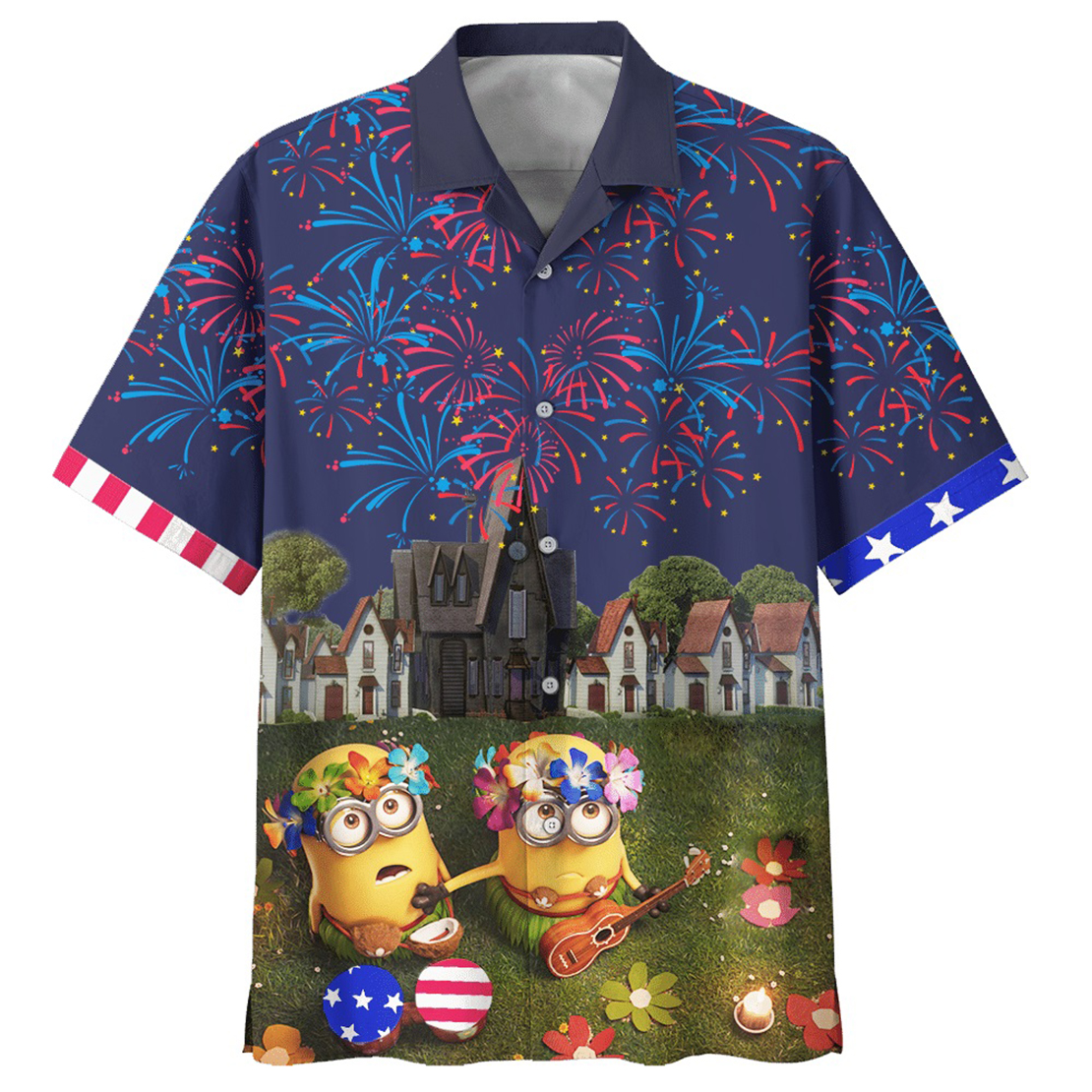 Minion independence day hawaiian shirt - Picture 1