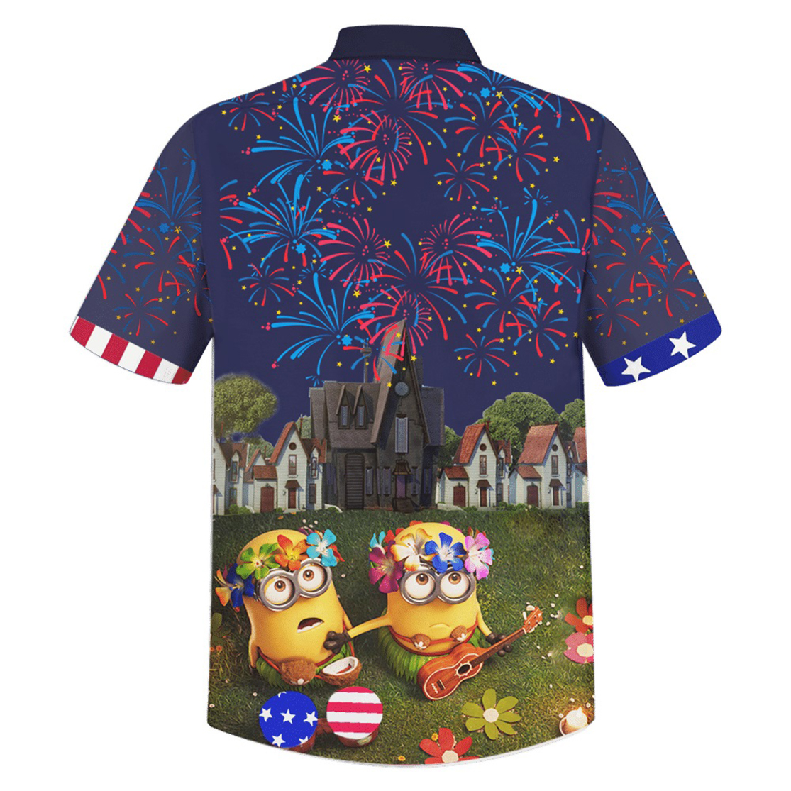 Minion independence day hawaiian shirt - Picture 2