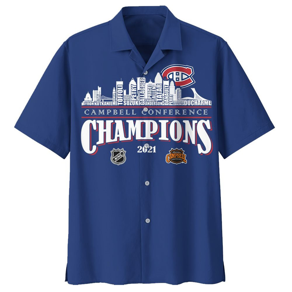 Montreal Canadiens Campbell conference champions 2021 hawaiian shirt - Picture 1