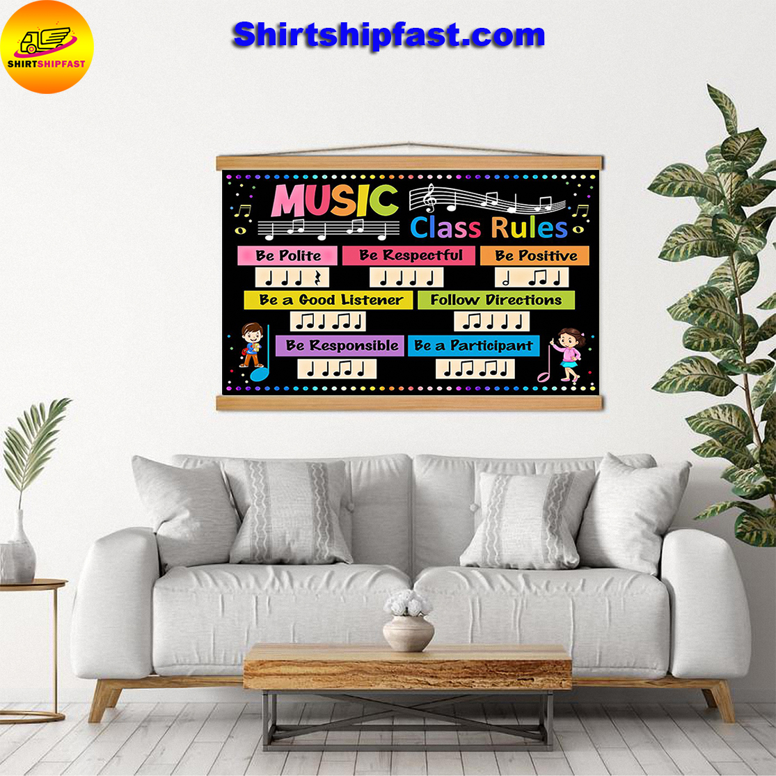 Music class rules be polite be respectful poster - Picture 3