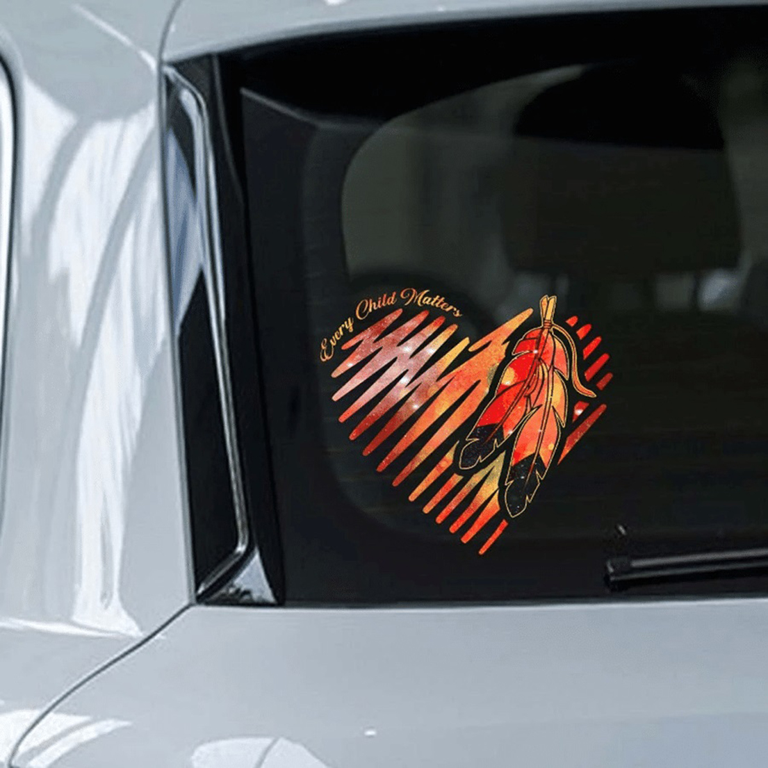 Native American Every child matters heart car sticker - Picture 1
