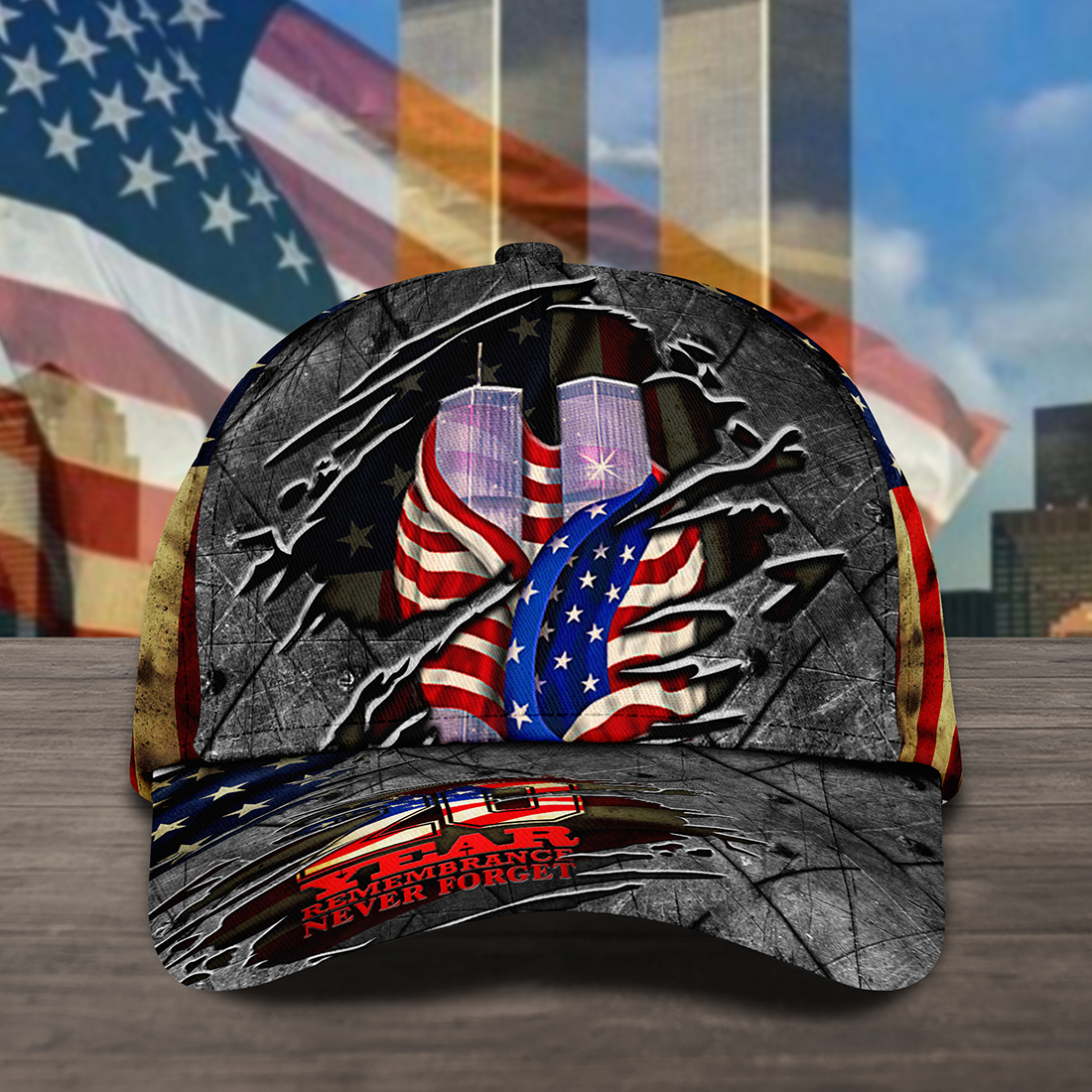 Never Forget September 11th Cap Hat