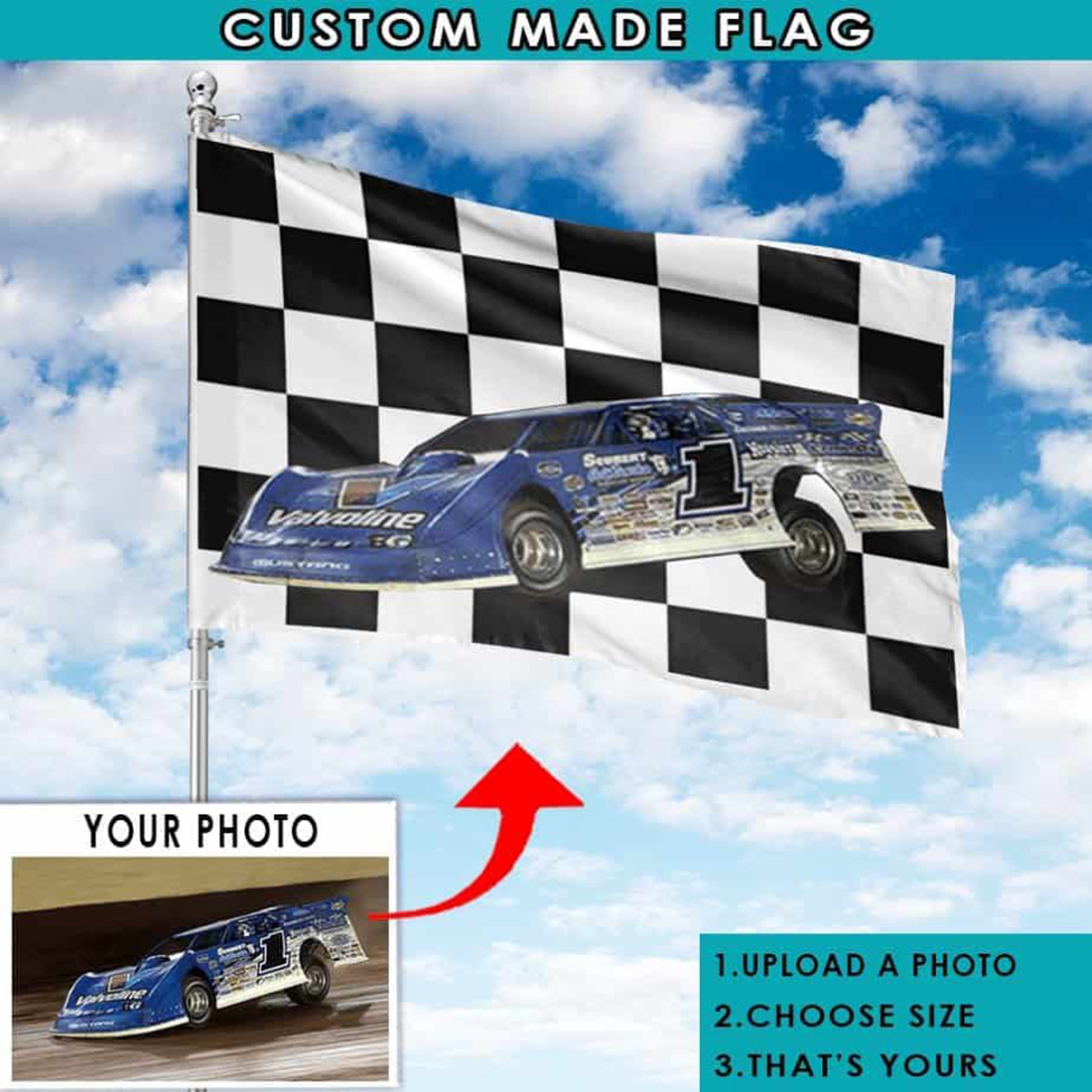 Personalized Car Racing Flag