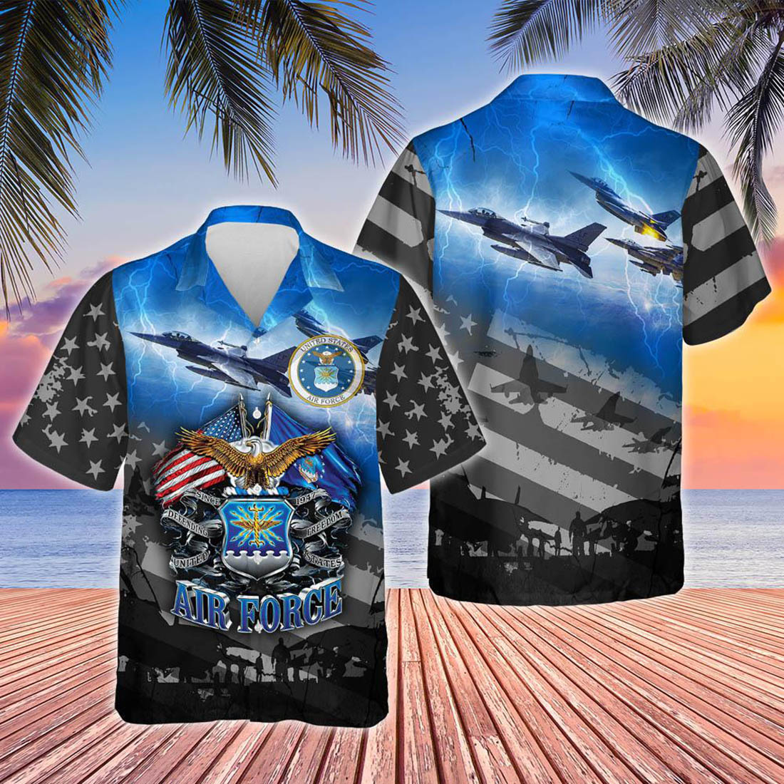 Proudly served United States air force hawaiian shirt