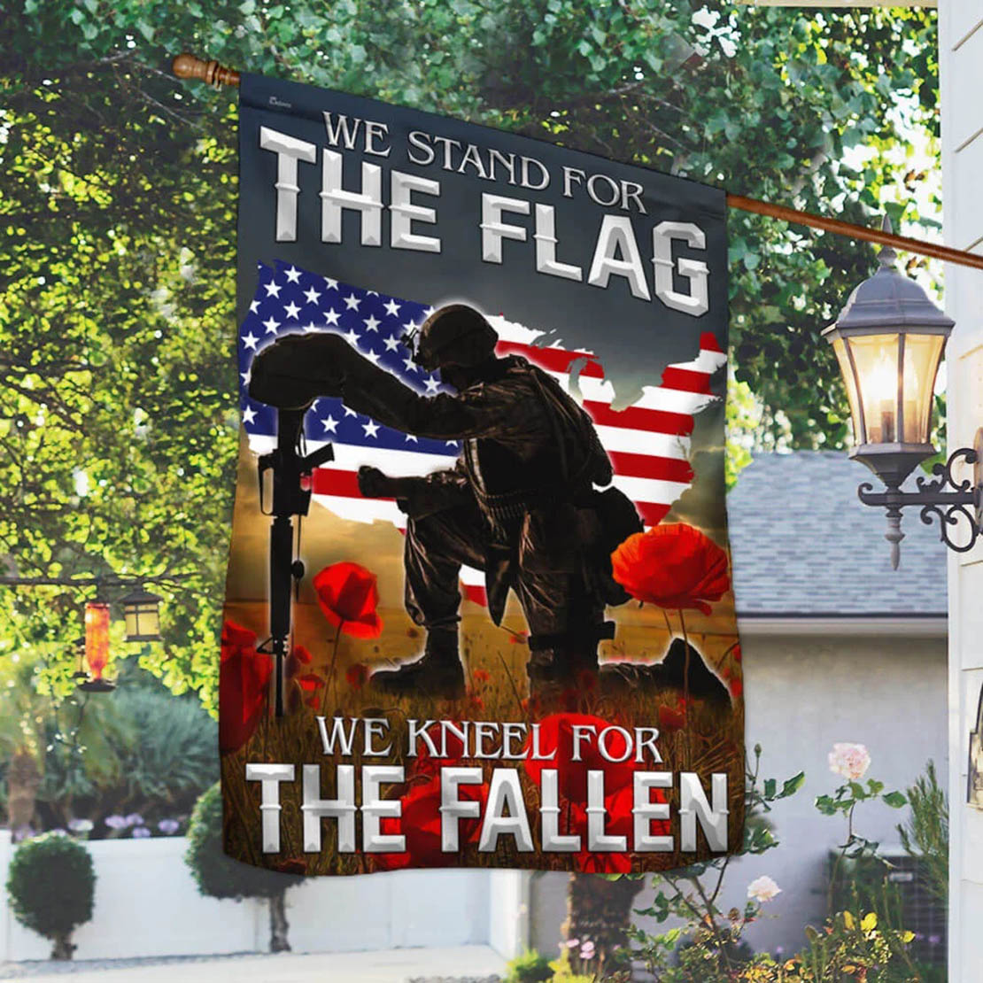 Remembrance day Flag We kneel for the fallen American flag - Picture 2