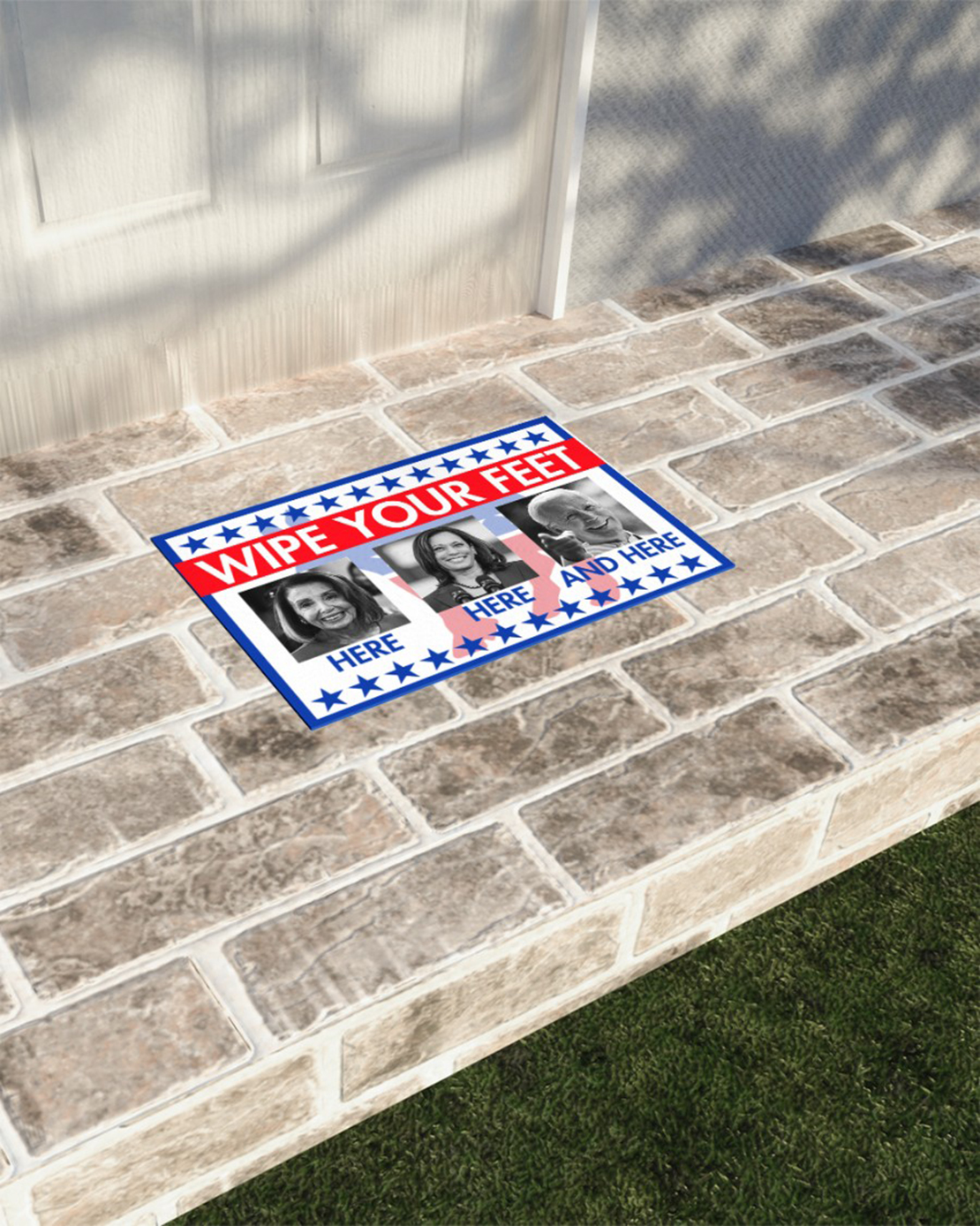 Wipe your feet here and here doormat - Picture 2