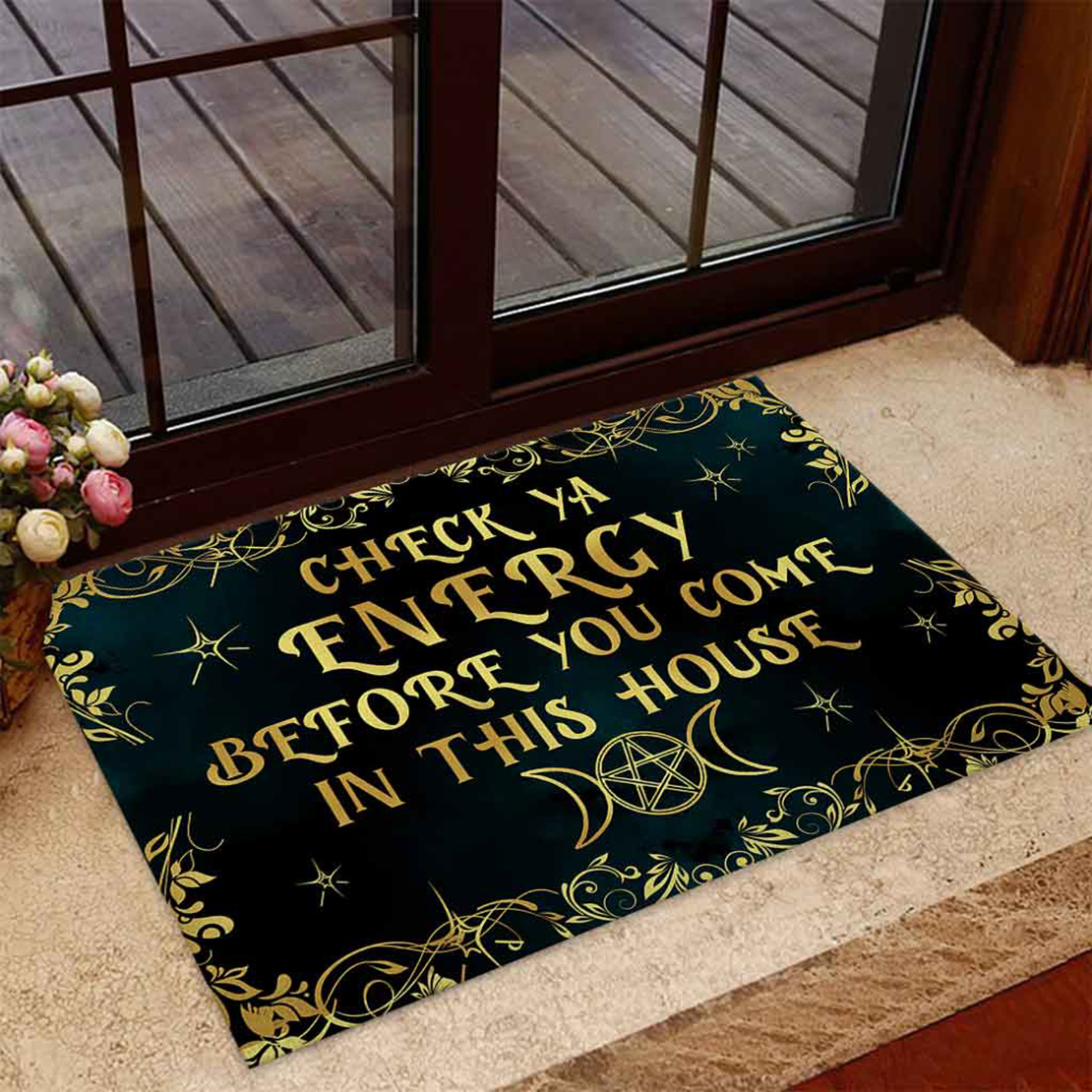 Witch check ya energy before you come in this house doormat - Picture 2