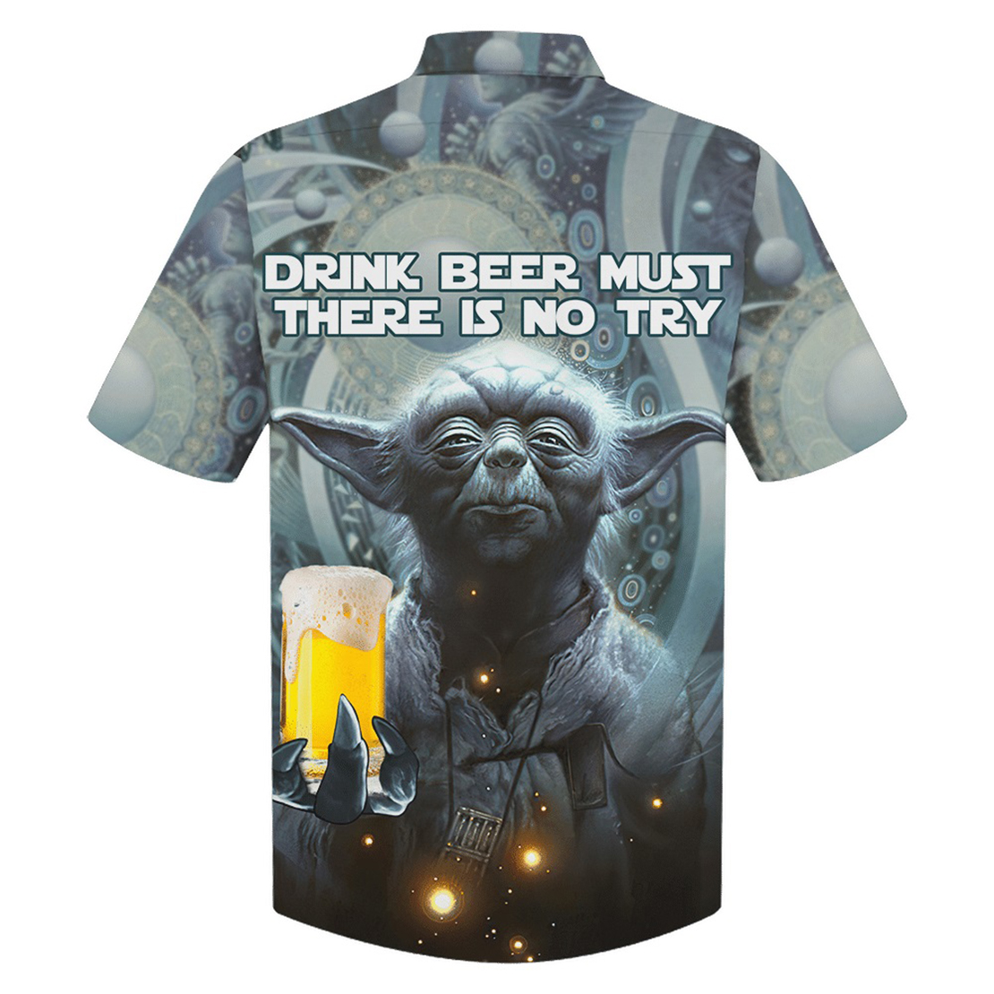 Yoda drink beer must there is no try hawaiian shirt - Picture 1
