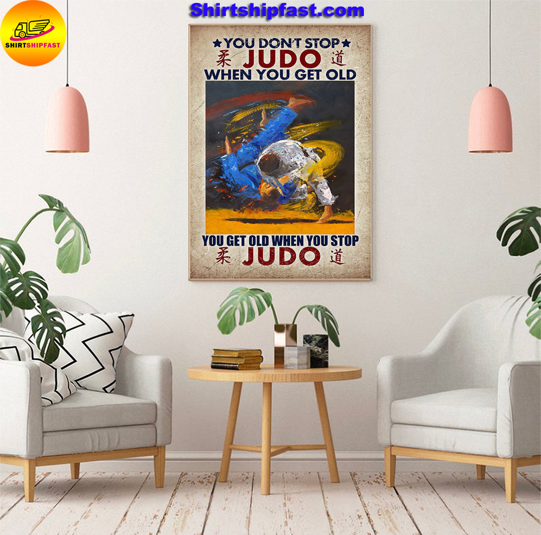 You don't stop JUDO when you get old canvas prints - Picture 3