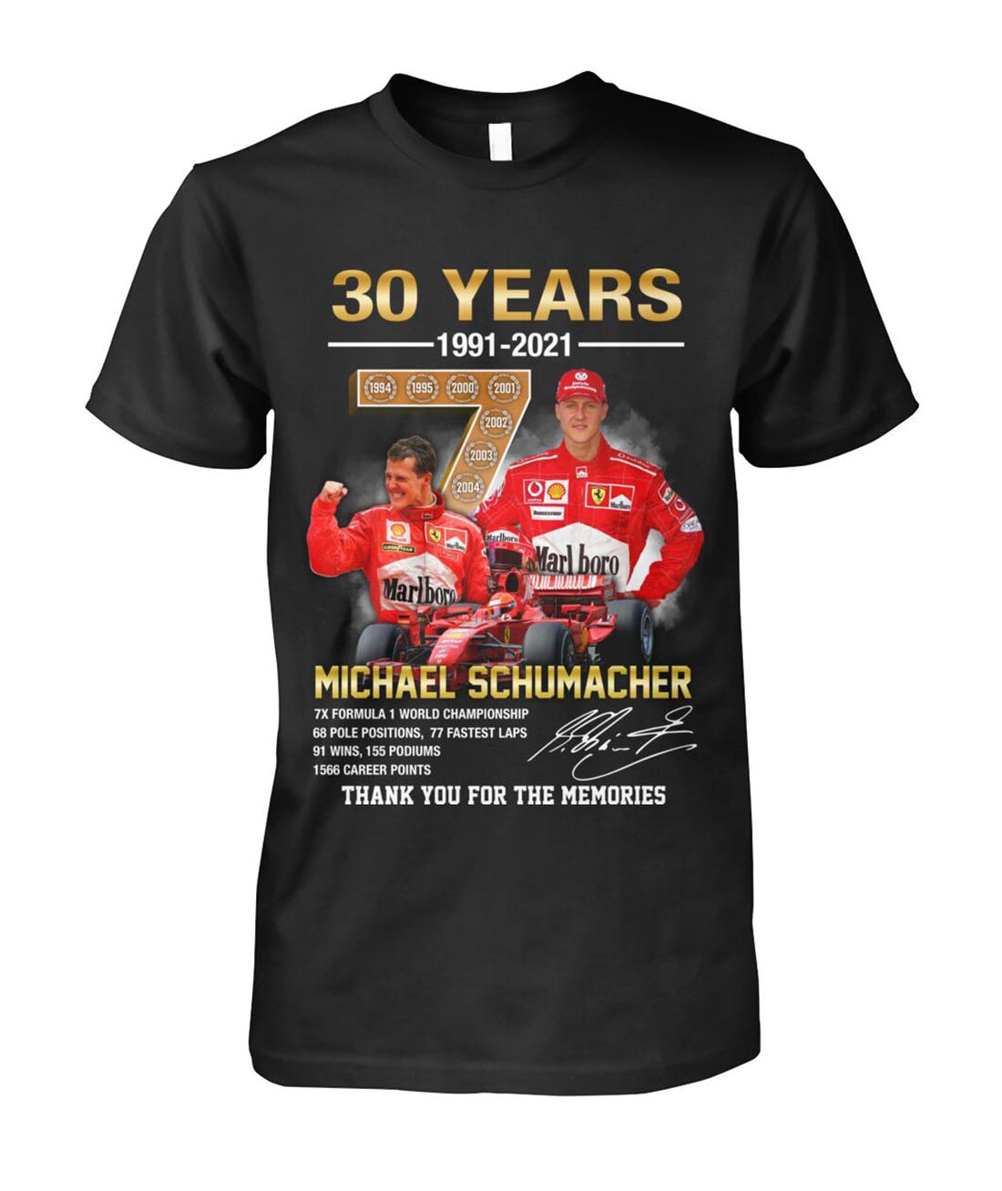 30 years Michael Schumacher thank you for the memories shirt