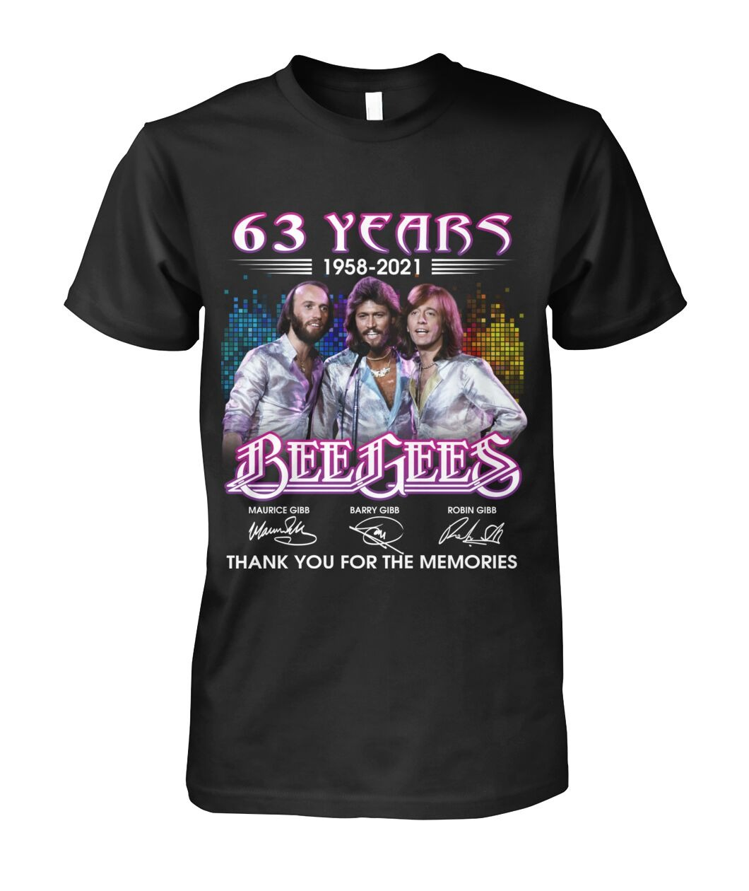 63 years 1958 2021 Bee Gees thank you for the memories shirt63 years 1958 2021 Bee Gees thank you for the memories shirt