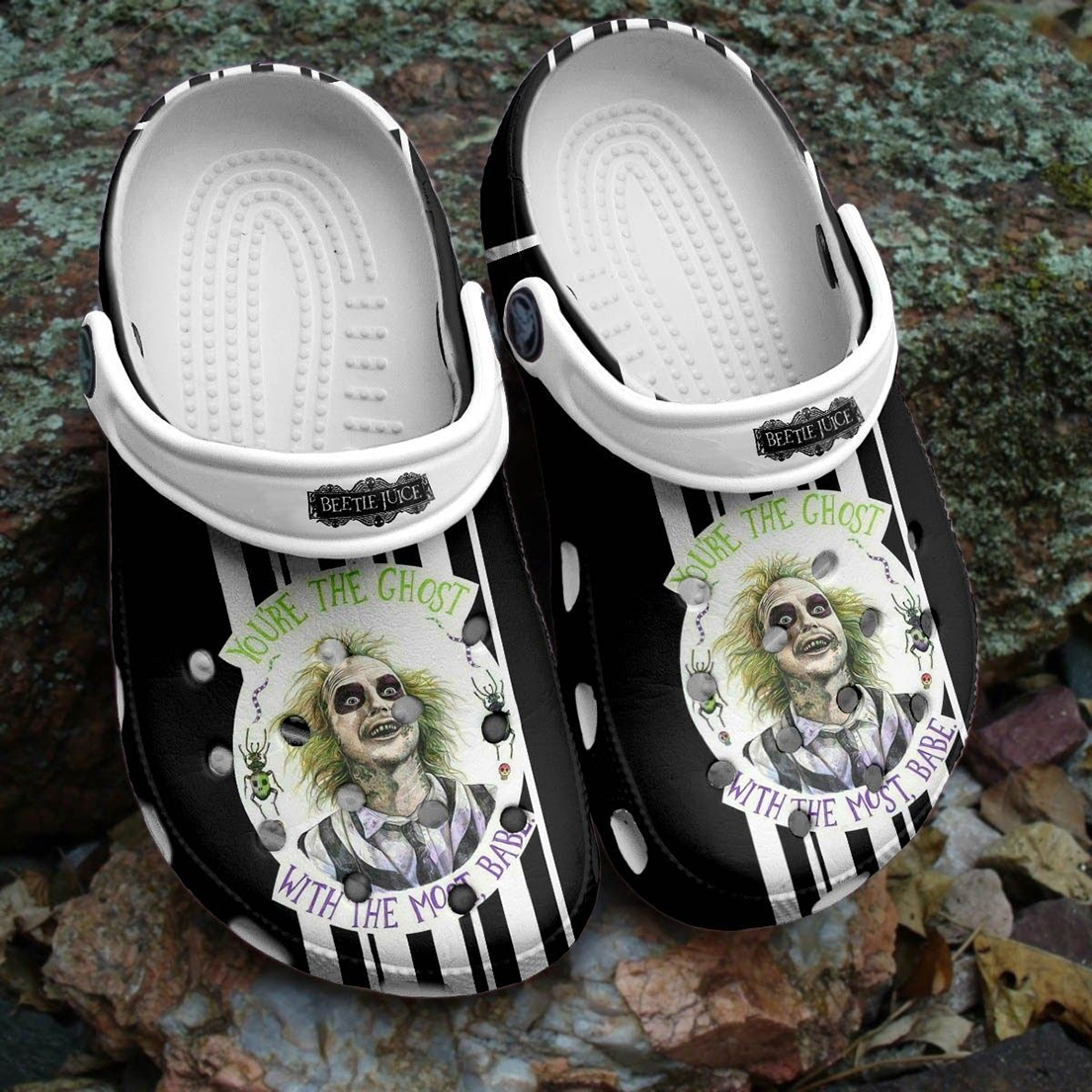 Beetlejuice You're the ghost with the most babe halloween crocband crocs shoes - Picture 1