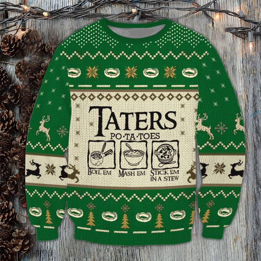 LOTR Taters Potatoes Ugly Sweater and jumper