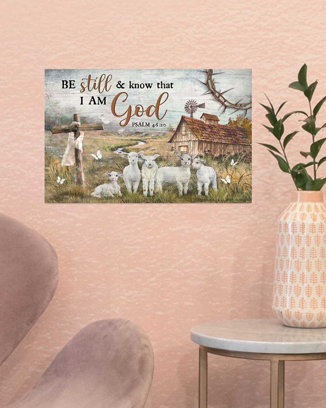 Lamb Be still and know that I am god poster - Picture 1