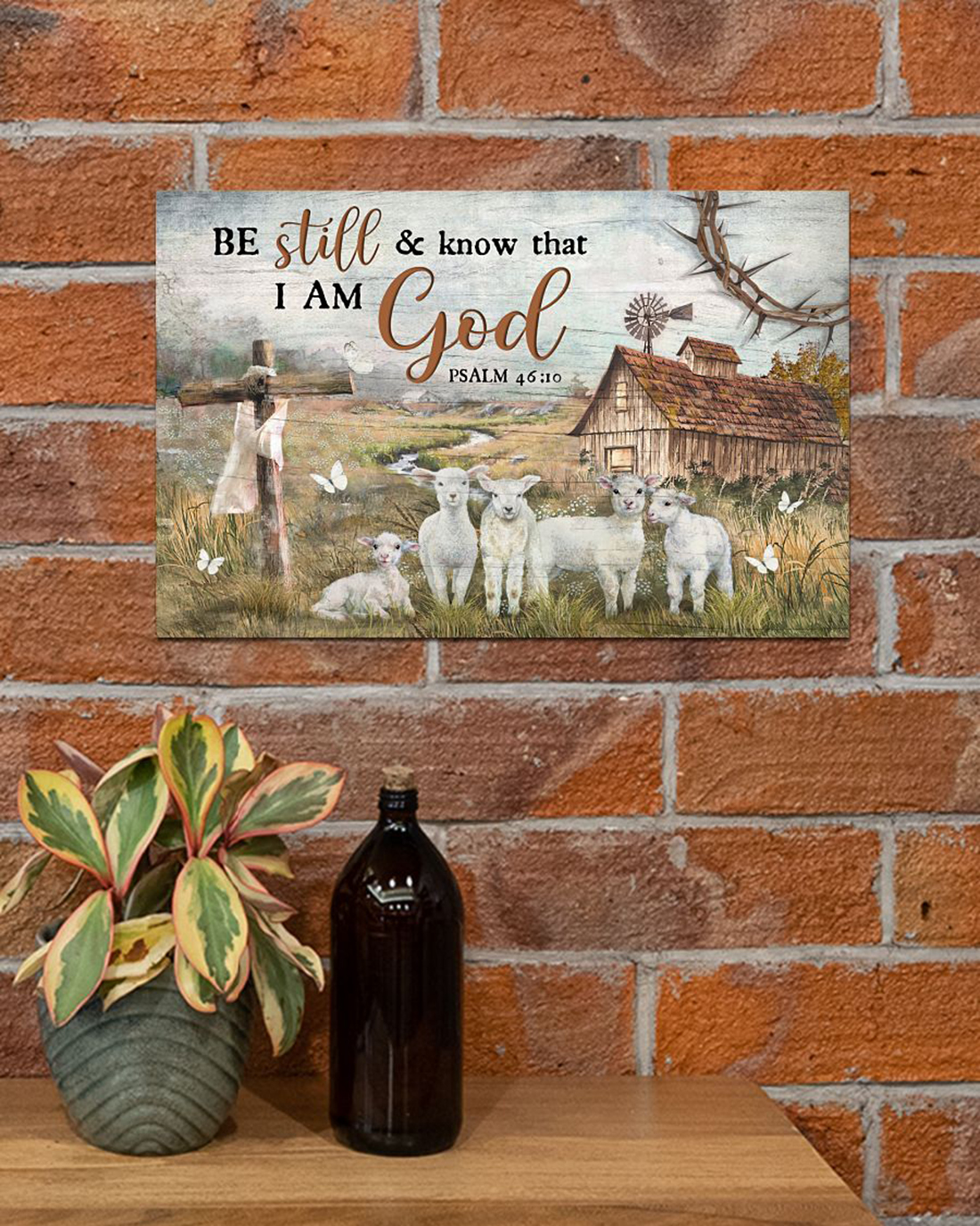 Lamb Be still and know that I am god poster
