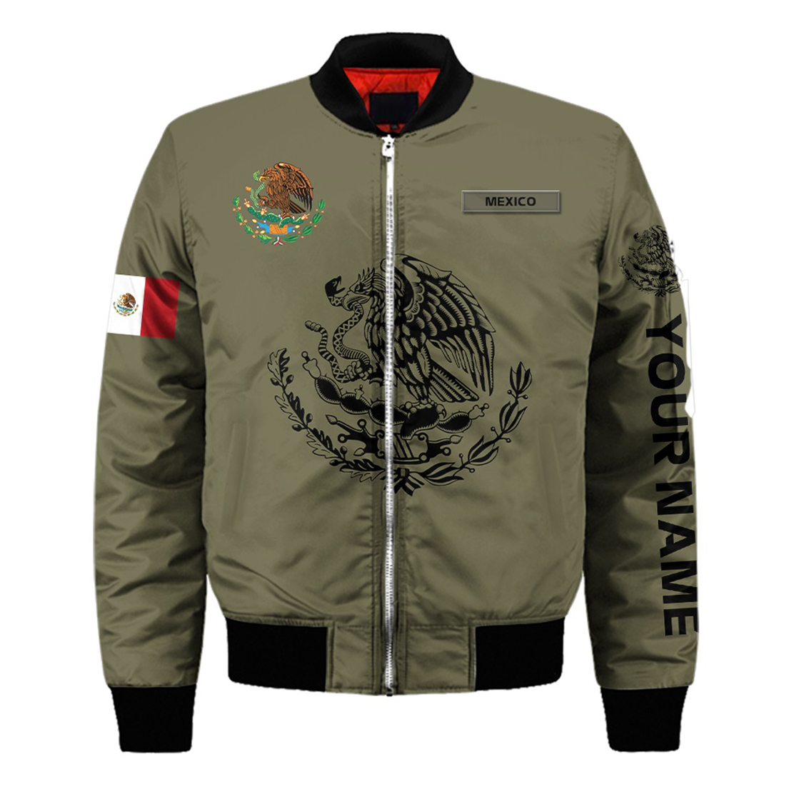 Personalized Mexican 3d all over printed bomber