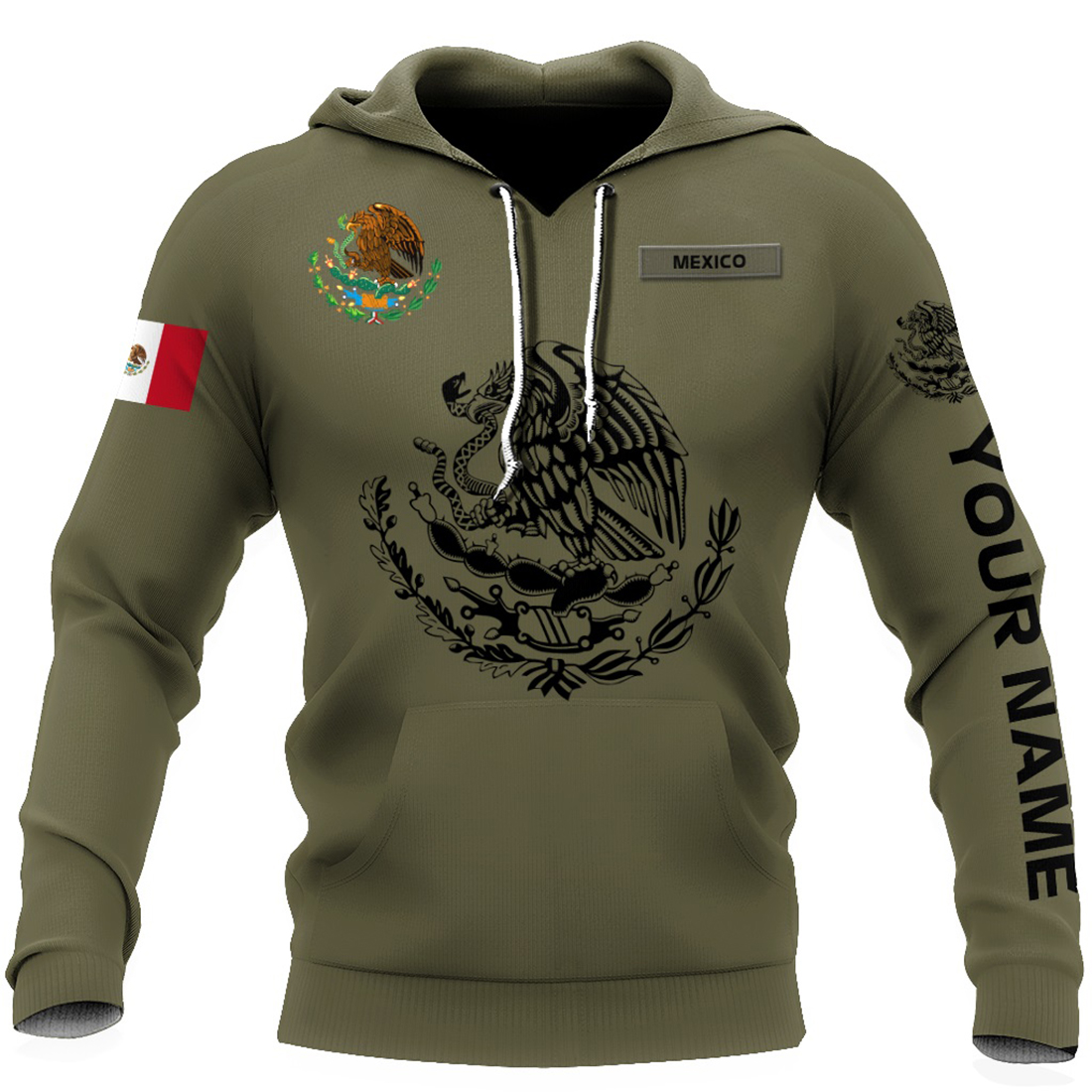 Personalized Mexican 3d all over printed hoodie and zip hoodie