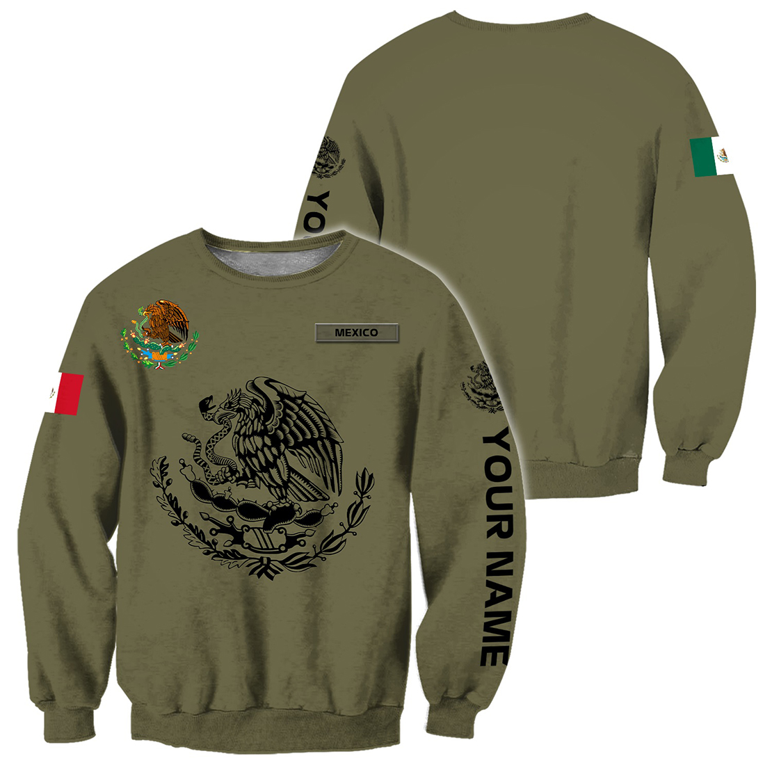 Personalized Mexican 3d all over printed sweatshirt