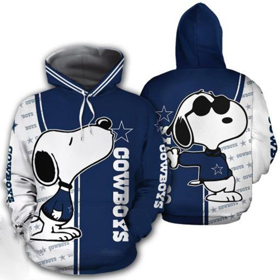 Snoopy And Dallas Cowboys 3d hoodie and t-shirt