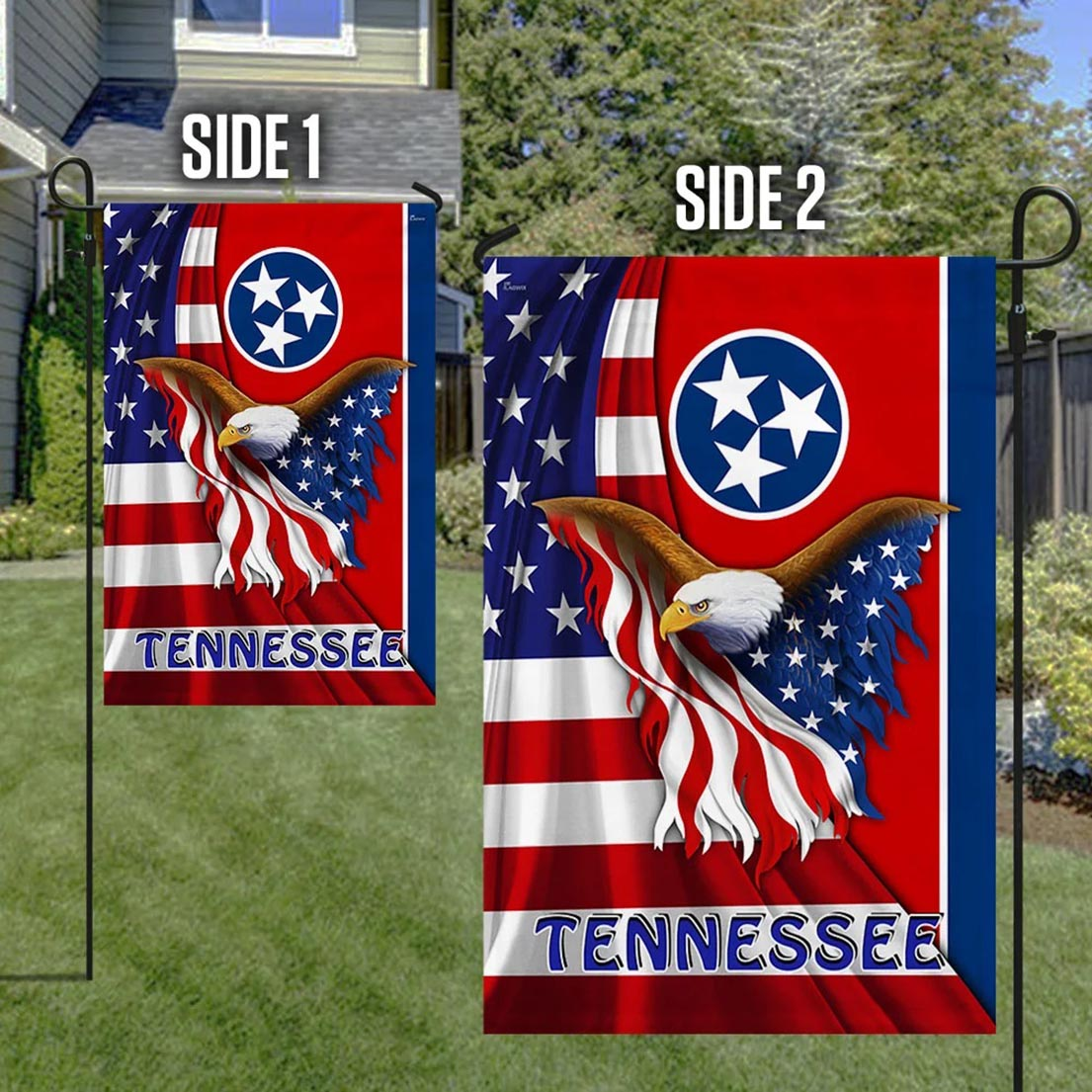 Tennessee Eagle American Flag - Picture 1