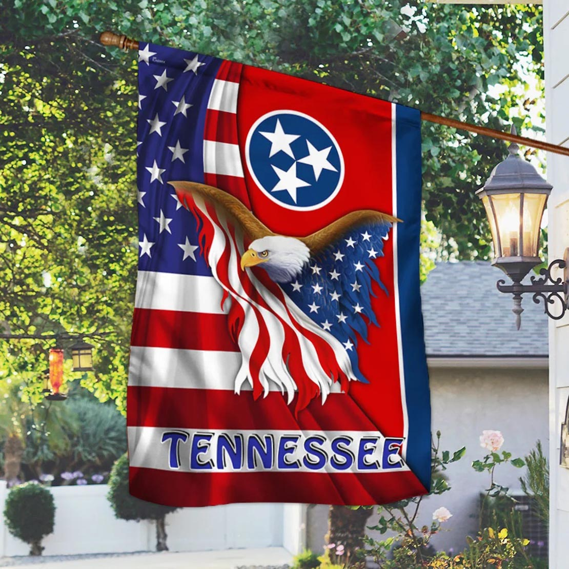 Tennessee Eagle American Flag - Picture 2